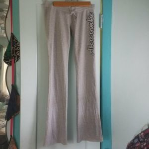 Abercrombie & Fitch grey sweats low rise flare xs